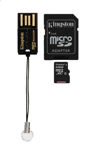 Kingston 64GB Micro SD Card (SDXC) Multi-Kit