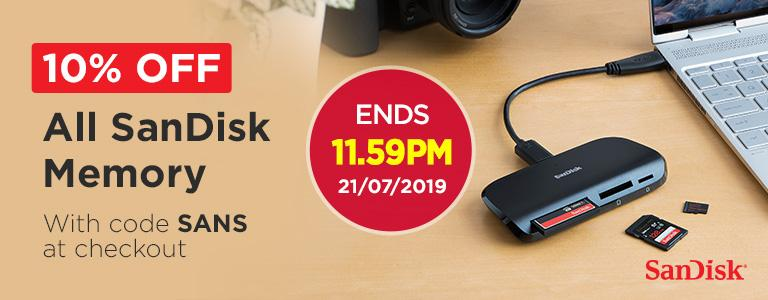 10% Off All SanDisk Memory - With code SANS