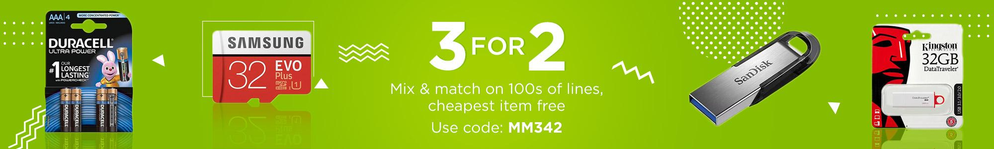 Multi Buy Savings Add 3 of the same promotional offer items to your basket to receive a discount