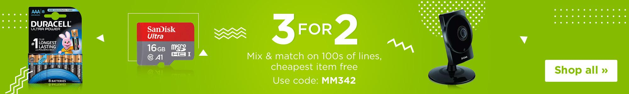 3 For 2 with code MM342
