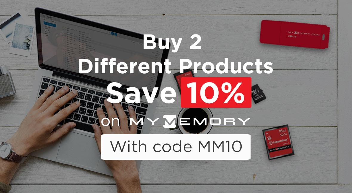 MyMemory buy 2 save 10%