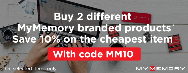 Buy 2 different MyMemory products Save 10% on cheapest item