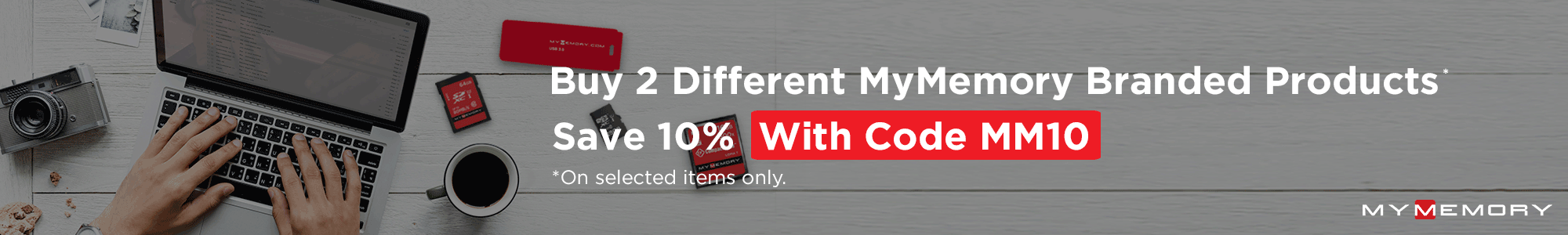 Buy 2 Different MyMemory Products Save 10%