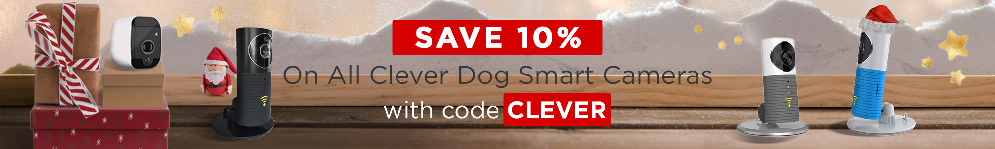 Save 10% on all Clever Dog cameras with code CLEVER