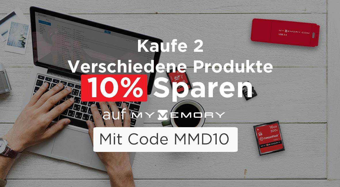 MyMemory Kaufen Sie 2 und sparen Sie 10%