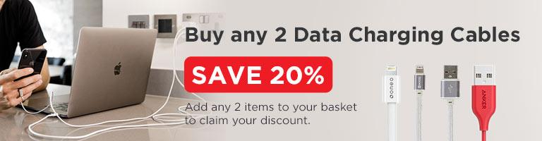 Buy Any 2 Data Charging Cables Save 20%