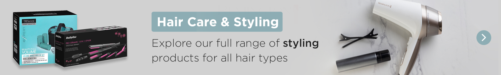 Explore our full range of styling products for all hair types