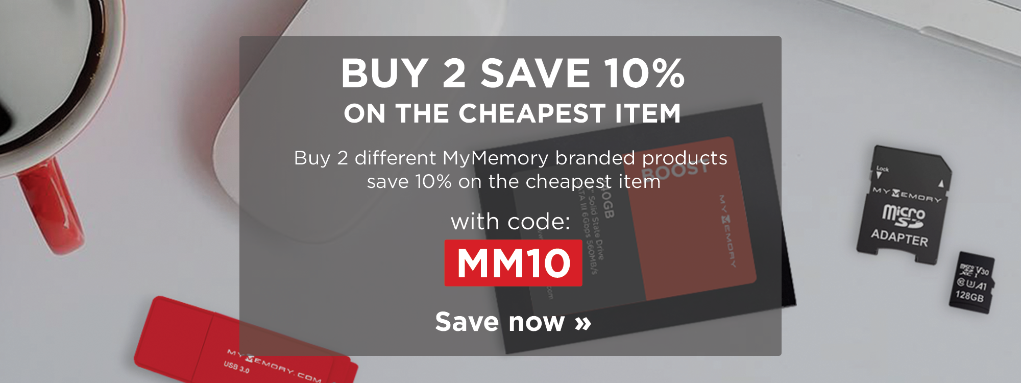Buy 2 different MyMemory branded products save 10% on cheapest item