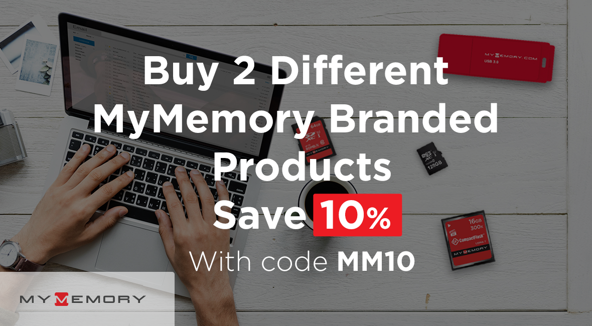 Buy 2 different MyMemory branded products save 10%