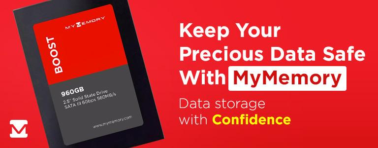 Keep Your Precious Data Safe, With MyMemory! Data Storage with Confidence