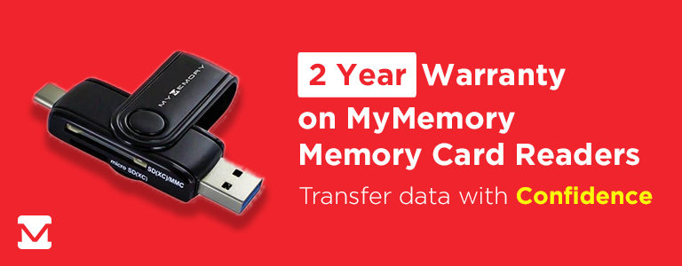 2 Year Warranty on MyMemory Memory Card Readers