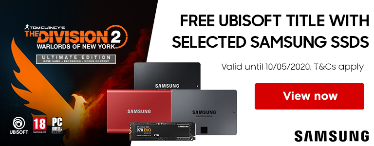Free UBISOFT title with selected Samsung SSD's