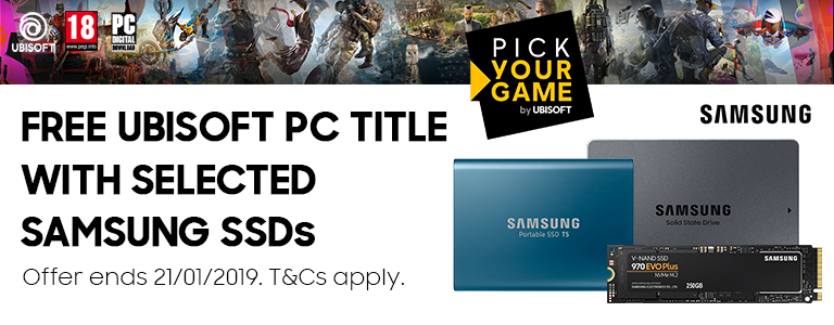 Free Ubisoft PC title with selected Samsung SSDs