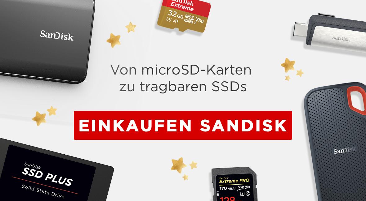 Von microSD-Karten zu tragbaren SSDs, Einkaufen SanDisk