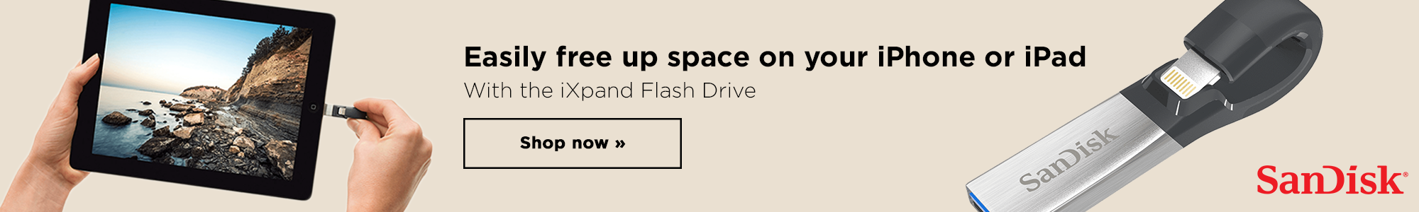 Free up space on your iPhone with the SanDisk iXpand Flash Drive