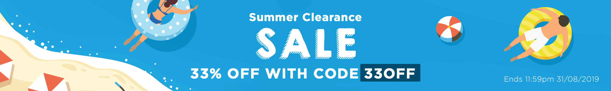 Summer Clearance! 33% Off Selected Items With Code 33OFF