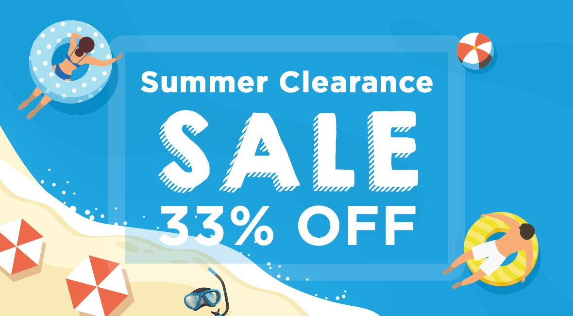 Summer Clearance 33% off - With code 33OFF