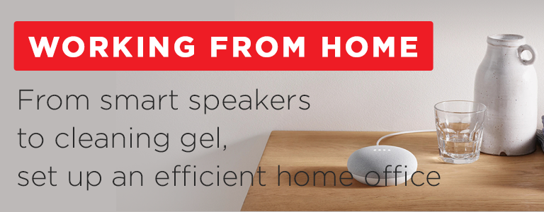 From smart speakers to cleaning gel, set up an efficient home office. Shop working from home