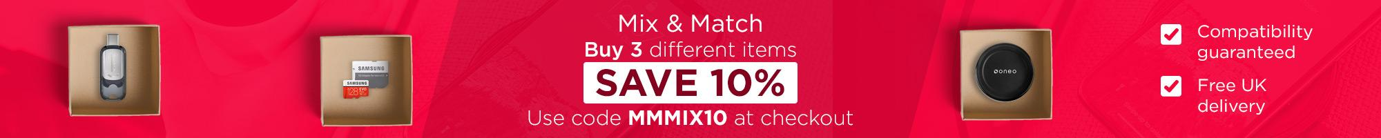 Compatibility Guaranteed - Mix & Match! Buy 3 different items SAVE 10% Use code MMMIX10 at checkout.