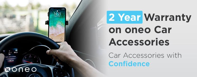 2 Year Warranty on oneo Car Accessories! Car Accessories with Confidence