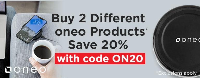 Buy 2 Different oneo Products Save 20%