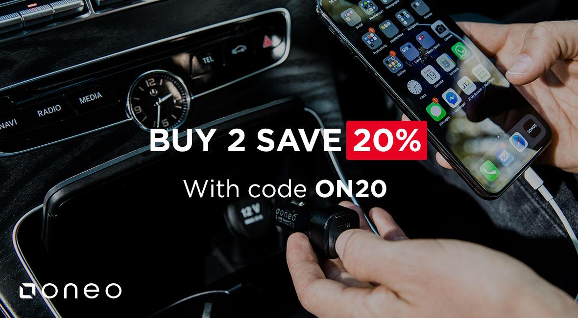 oneo - Buy 2 Save 20%