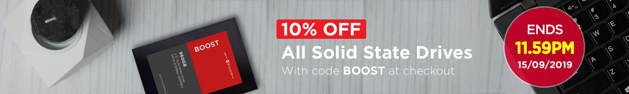 10% Off All SSDs! With code BOOST